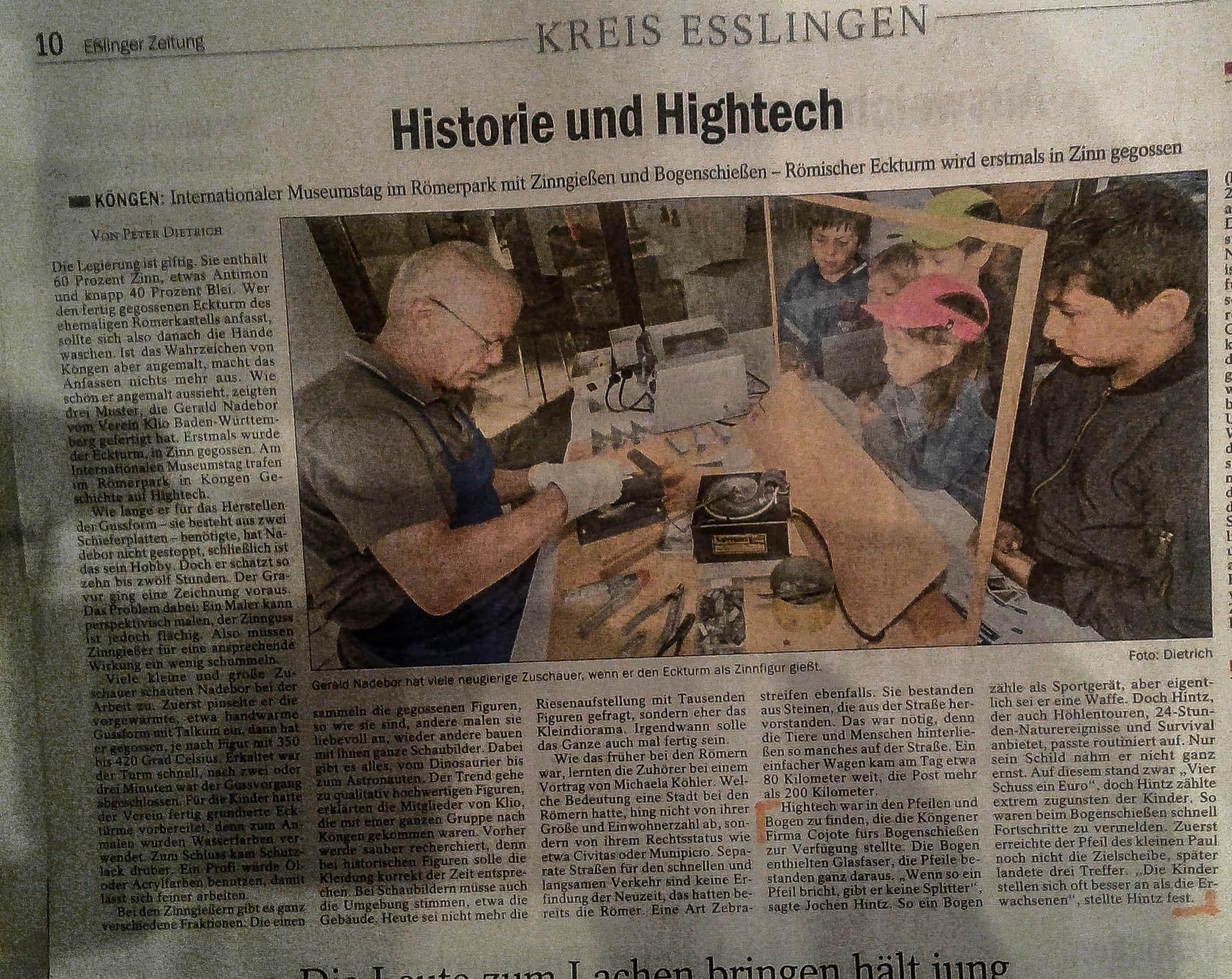 Zeitungsartikel Esslinger Zeitung 23.5.2017