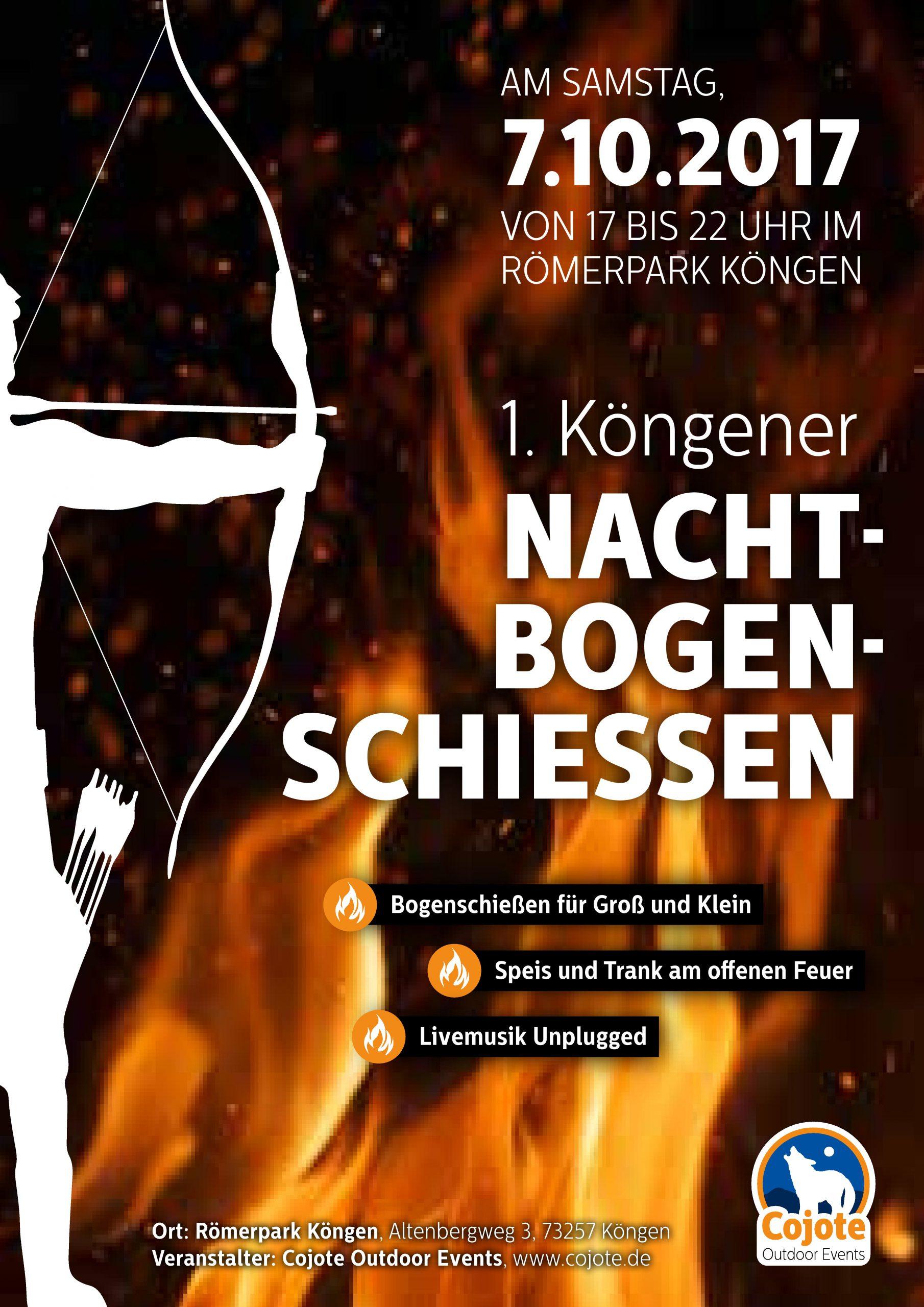 7.10.2017 erstes Nachtbogenschießen in Köngen