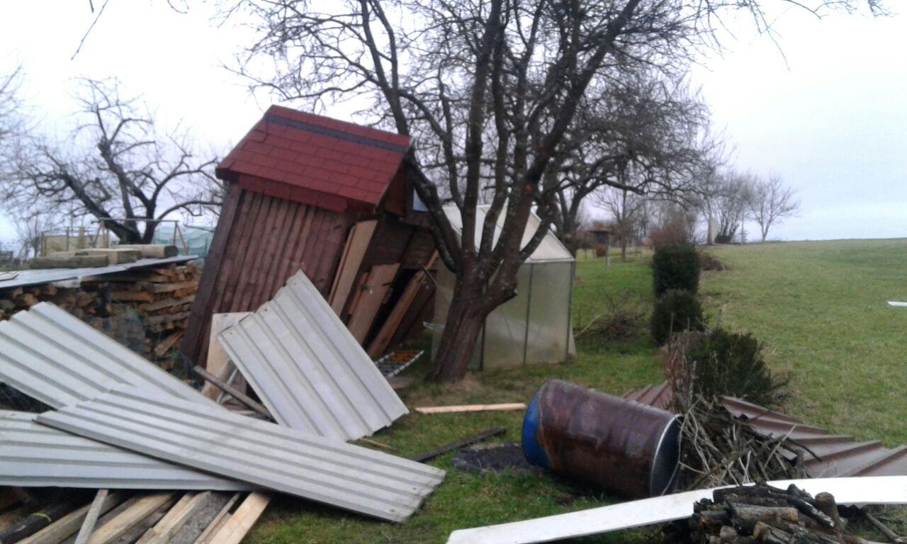 Burglind hat zugeschlagen :-( Schwere Schäden auf unserer Ranch