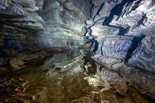 Spiegelung Falkensteiner Höhle